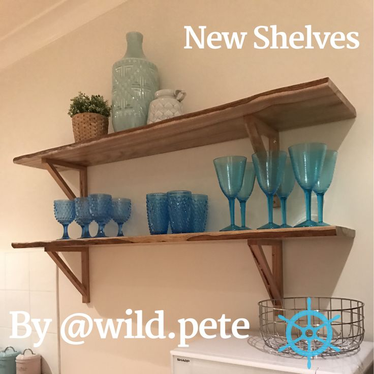 Natural edge shelves by Pete from Wildwood Designs