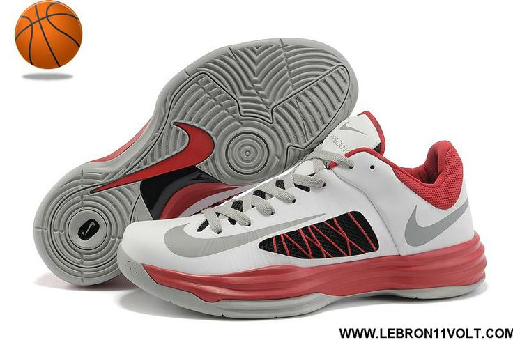 3010e790b748 Real Nike Lunar Hyperdunk 2012 Low White Red Cool Grey Black 535 ...