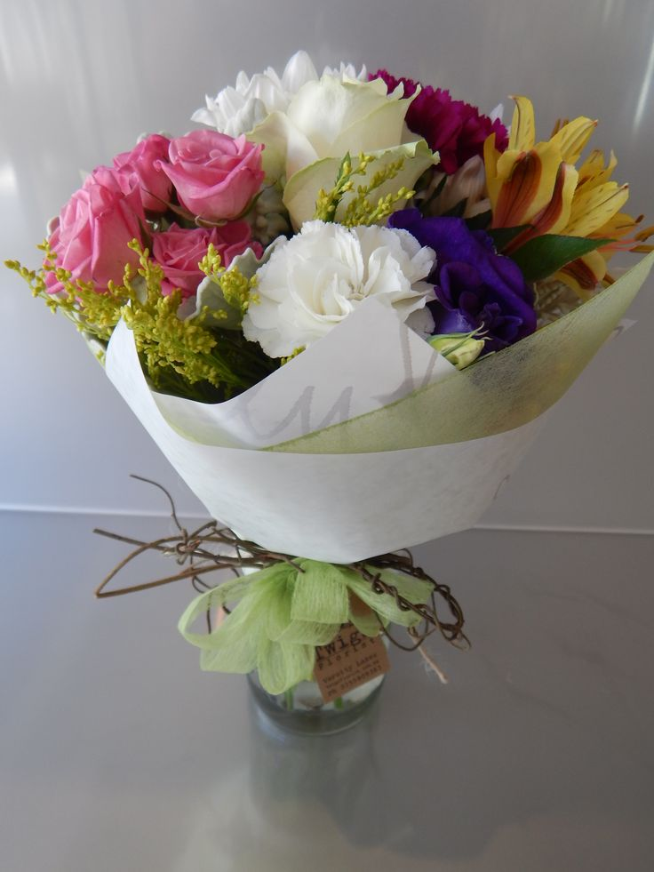 Joy Jar posy, one of our best sellers, and at only $30 delivered to Gold Coast suburbs, it is easy to spread the joy! see our website to order today www.twigsflorist.com.au
