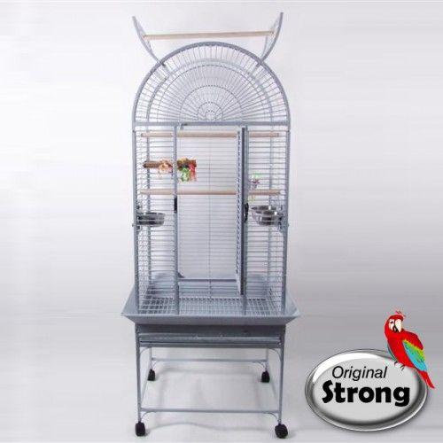 Cage Perroquet Anna Blanc martelé Original strong