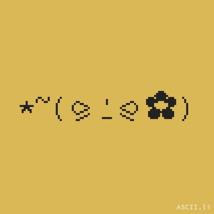 ★~(⪩⍘⪨✿) https://ascii.li #Jamoji #Smiley #TextFace #Unicode #KawaiiFace #LennyFace #Happy