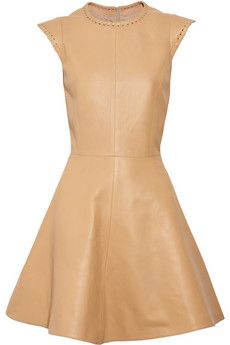 Whipstitch leather dress    Was $3,135   Now $1,567.50