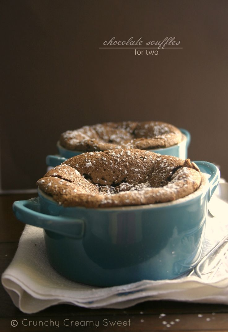 Chocolate Souffles For Two and Le Creuset Giveaway CrunchyCreamySweet.com @Anna @ Crunchy Creamy Sweet