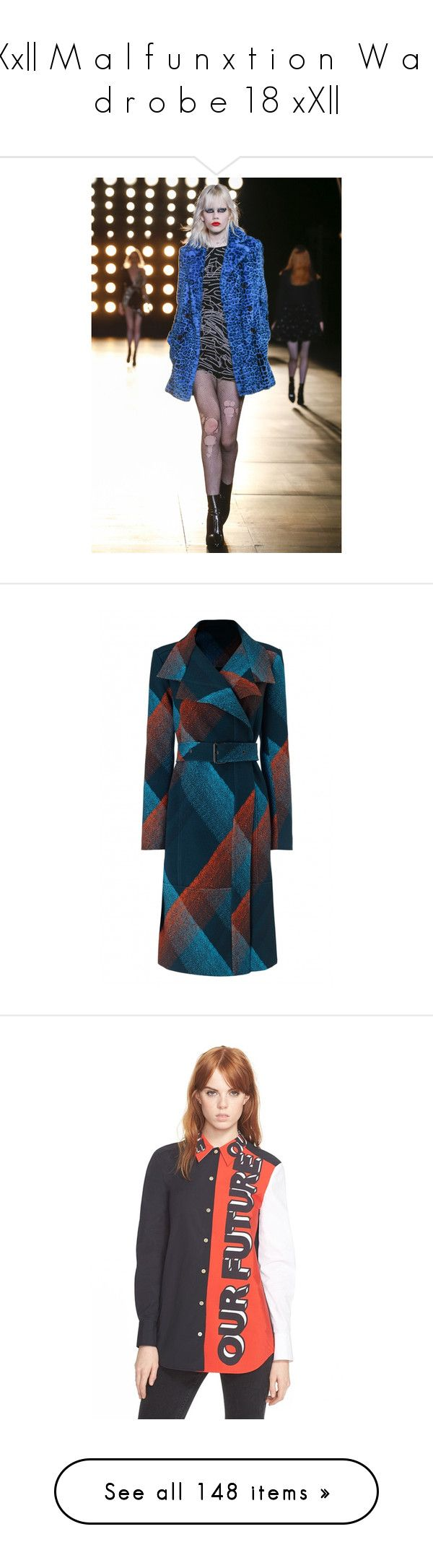 """""""Xx   M a l f u n x t i o n  W a r d r o b e 18 xX  """" by the-anon-side ❤ liked on Polyvore featuring outerwear, coats, jackets, coats & jackets, пальто, knee length coat, blue coat, blue trench coats, knee length trench coat and roland mouret"""