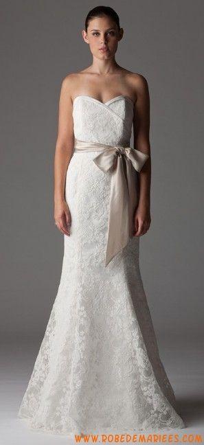 Robe de mariée sirène dentelle collection 2012