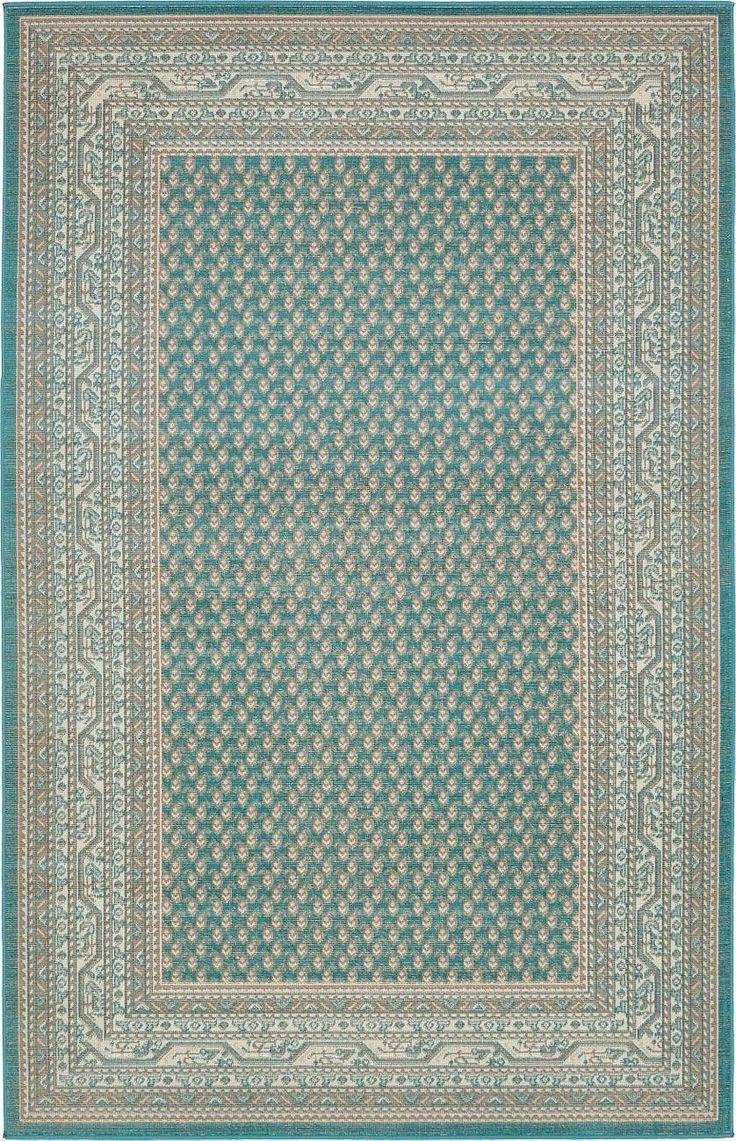 Momeni Luster At Rug Studio - Crowther teal area rug