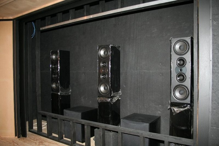 Frame Up With Speakers Home Theater Ideas Pinterest