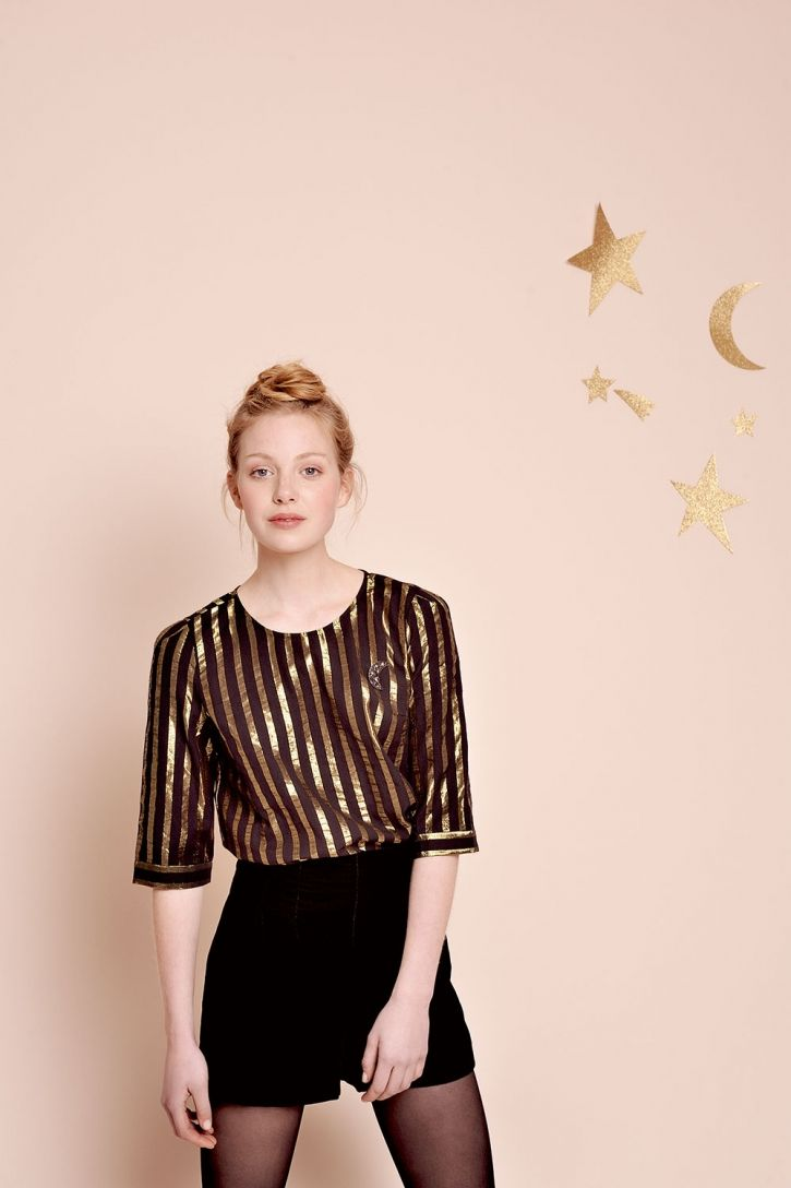 Blouse valini rayures - blouse 80% coton 20% lurex - des petits hauts 1