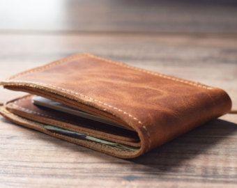 Geldbörse Herren Leder Geldbörse Mens Wallet von PoshGift auf Etsy