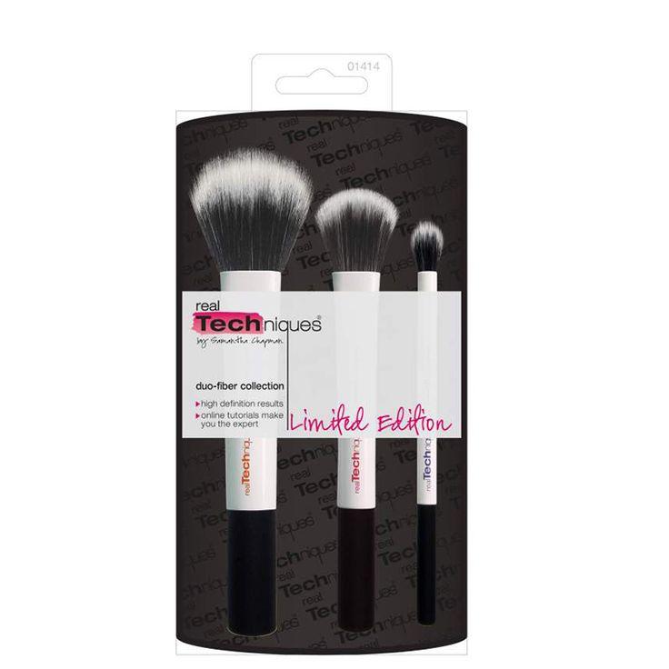 Set pensule realTechniques Duo Fibre Collection - editie limitata doar pe http://www.makeup-shop.ro