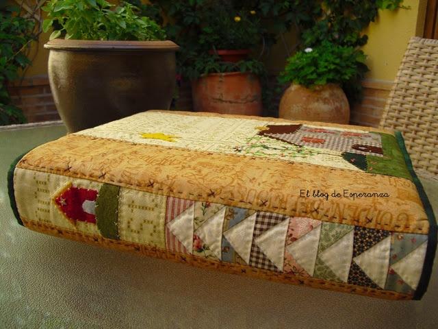How To Make A Book Cover No Sew : El de esperanza patchwork binder cover no