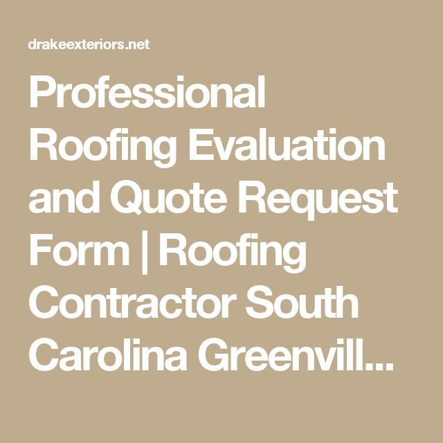 Professional Roofing Evaluation and Quote Request Form Roofing - quote request form
