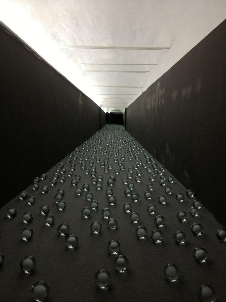 Artists 'Not Vital' | Hani Rashid | an installation of 700 'snow balls' ( blown glass ) | Curate by Alma Zevi — at Venice Biennale, Giardini-Arsenale