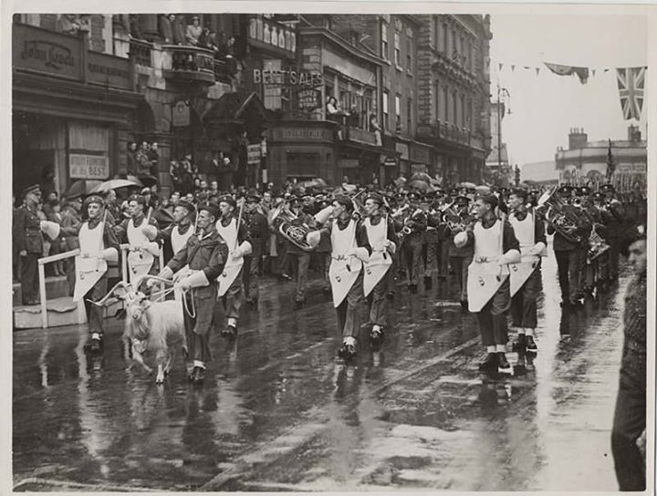 1st Battalion of the Royal Welch Fusiliers at the Freedom of the Borough of Wrexham March, 1952 .jpg