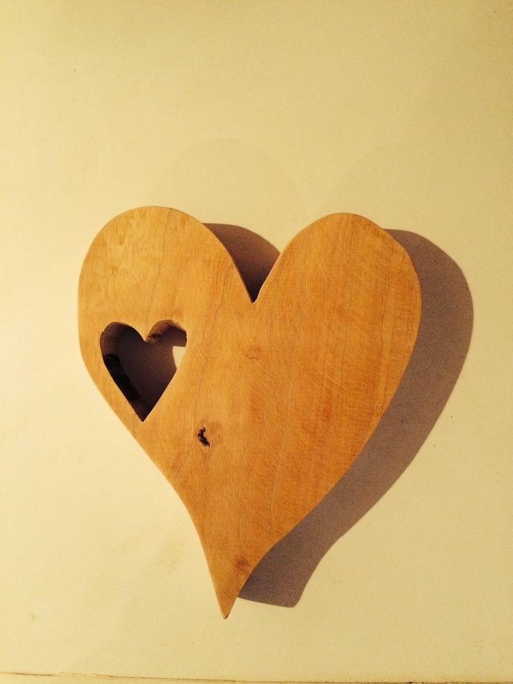 Heart in a wooden heart
