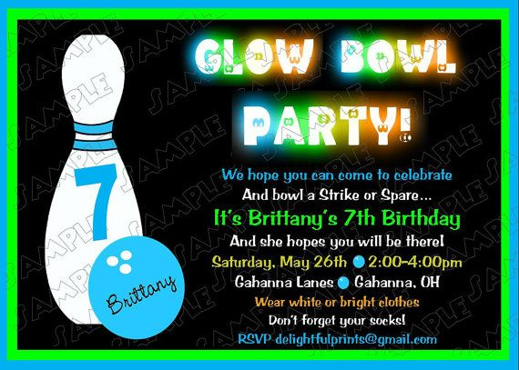 29 best Bowling party images on Pinterest Birthdays, Kids - bowling invitation