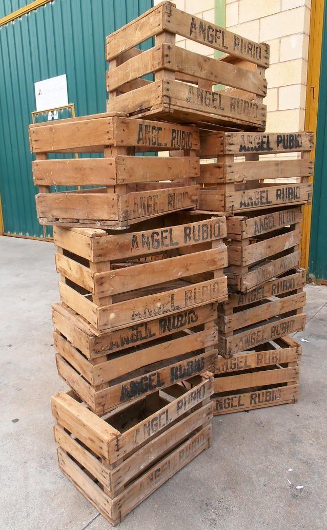 Detalles de lote 100 cajas de madera cajones antiguos de - Cajones de madera para frutas ...