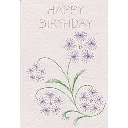 Free Sweet Violet paper embroidery pattern pattern at Stitching Cards.