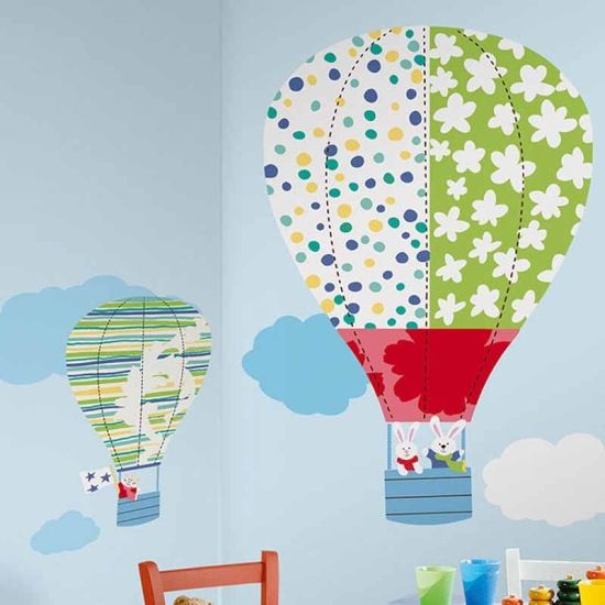 Väggdekor Wallstickers Hot Air Balloons GIANT (R2P) i gruppen Affisher & Väggdekorer hos HouseofHedda.com (R2HotAirBallooGIANT)