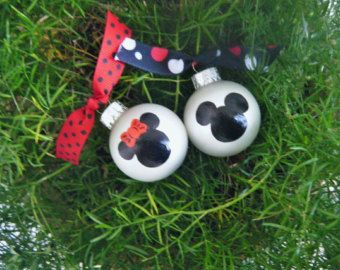 Minnie Mouse Party Favor Ornaments TWELVE by BrushStrokeOrnaments