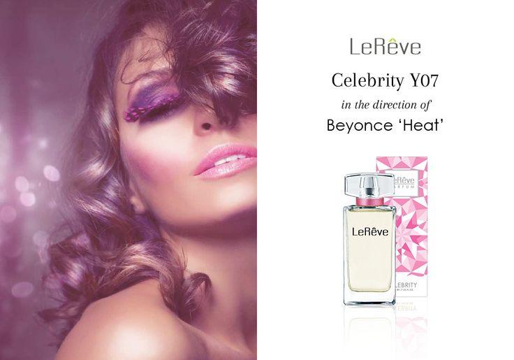 Le Reve Perfume | Celebrity Y07 in the direction of Beyonce 'Heat' - http://www.lereve.com.au/perfume/Celebrity/Parfum/Celebrity-Y07