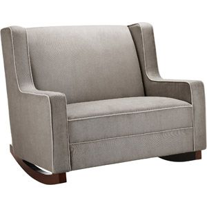 Baby Relax Hadley Double Rocker, Dark Taupe $279. NEED a double rocker!