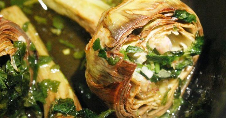 Italiaans koken met Antoinette: artisjokken alla romana, carciofi alla romana