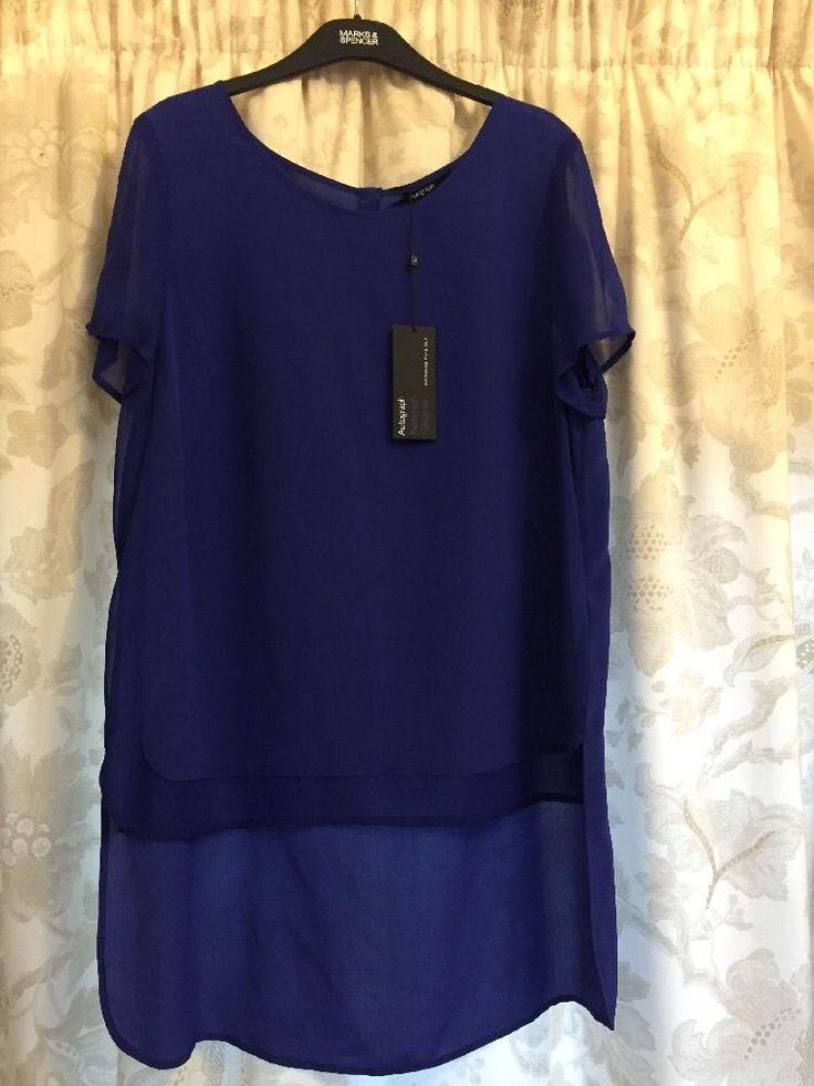 M&S AUTOGRAPH Washable 100%PURE SILK UK14 BNWT Ladies Summer Shirt/ Top Cobalt