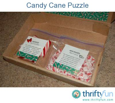 Candy Cane Puzzle Gag Gift Pinterest White Elephant Gift Candy Canes And Holidays