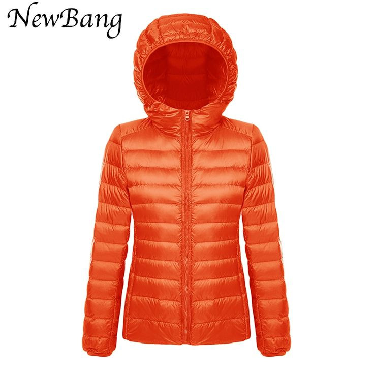 Women Ultra Light Down Jacket Hoodie Winter Coats With Carry Bag Portable Parka Colorful Jackets