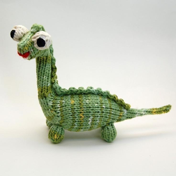 Amigurumi Dinosaur Pattern : Mon Dinosaure Knitted Amigurumi Dinosaur Plush Pattern