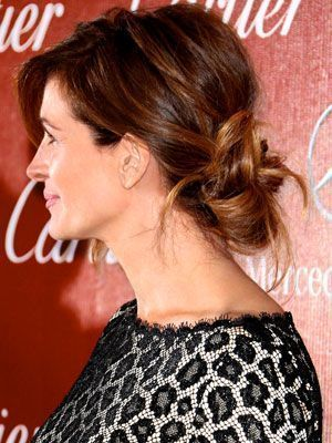 The Simplest, Sexiest Updo Ever, on Julia Roberts - a messy, low, chignon hairstyle | allure.com