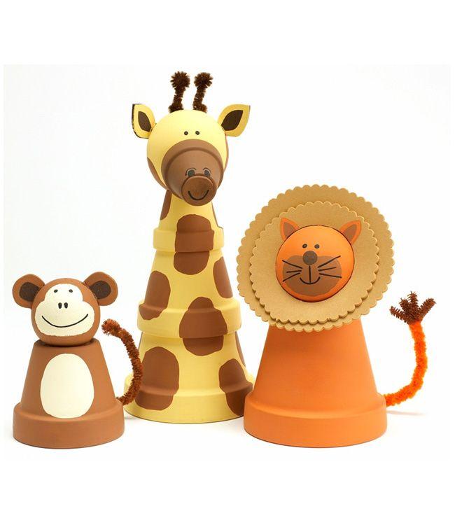 Best Stacking Flower Pots Images On Pinterest Gardening - Sporting clay window decalsgiraffe garden statue giraffe clay pot clay pot animal