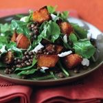 Spiced Pumpkin, Lentil, and Goat Cheese Salad | Recipe