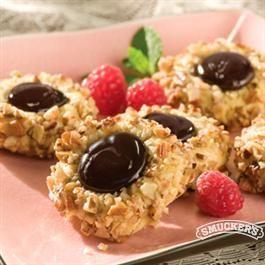 Fudge Raspberry Thumbprint Cookies from Smucker's®