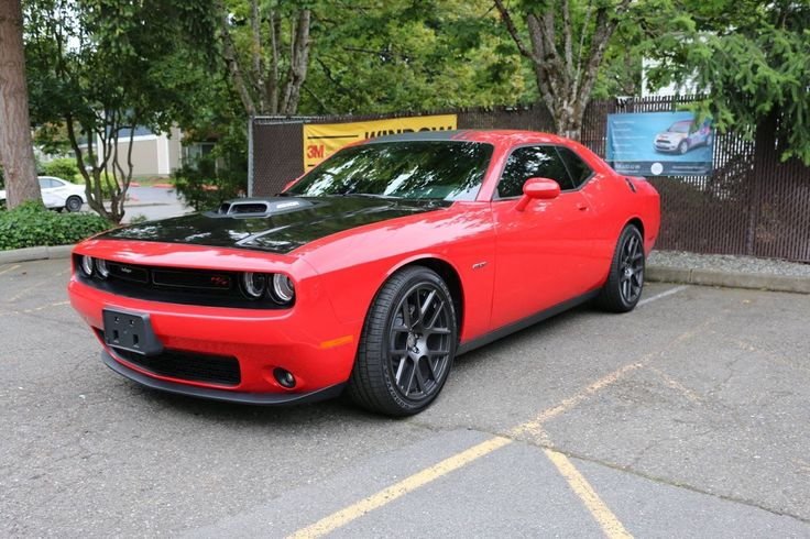 2015 Dodge Challenger Hood Wrap In Gloss Black Quot Avery