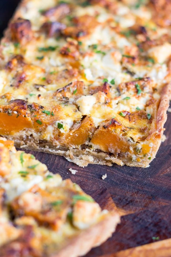 This Sweet Potato and Feta Tart, with its hidden layer of caramelised onion, is the perfect vegetarian dish for an easy lunch or a light dinner.