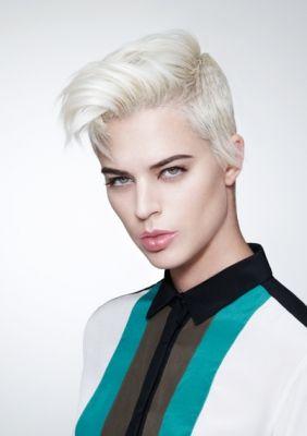 short white haircuts