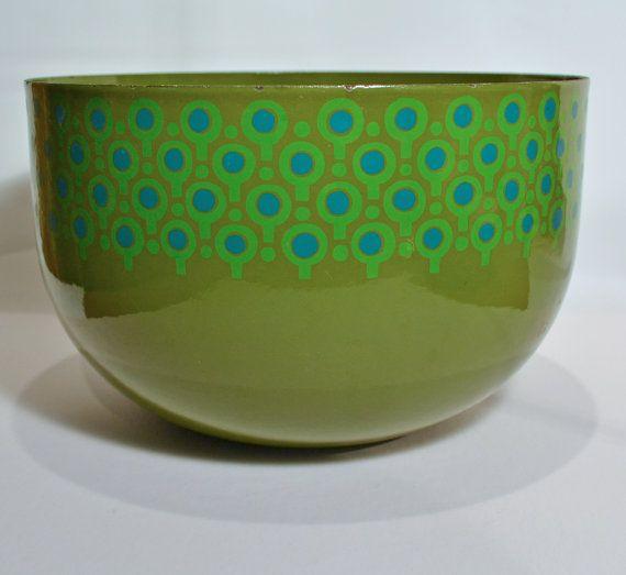 Large Enamel Bowl VEFA MerrillAmes Danish Modern by tandemantiques, $65.00