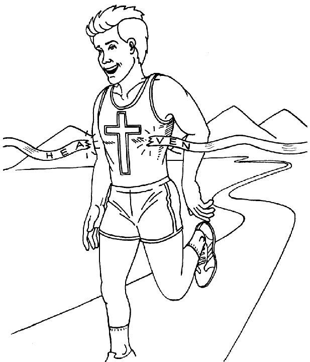 running the race coloring pages - photo#1