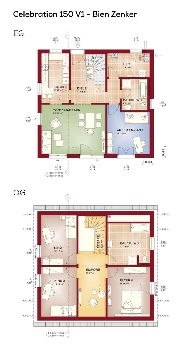 grundriss einfamilienhaus mit satteldach galerie im treppenhaus 5 zimmer erdgeschoss mit. Black Bedroom Furniture Sets. Home Design Ideas