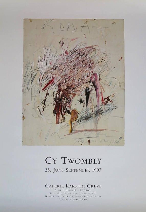 cy twombly exhibition poster - museum print - 1997 - excellent ...