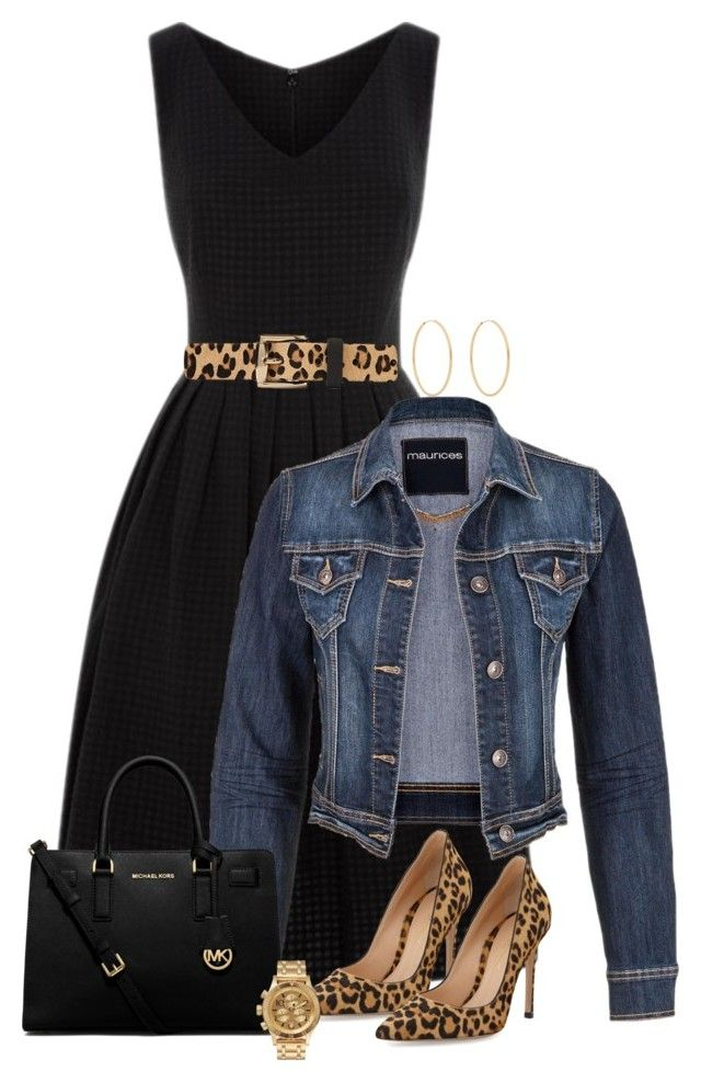 """Black Dress and Leopard Shoes (OUTFIT ONLY!)"" by ginga1203 ❤ liked on Polyvore featuring maurices, Michael Kors, Gianvito Rossi, Nixon and Loren Stewart"