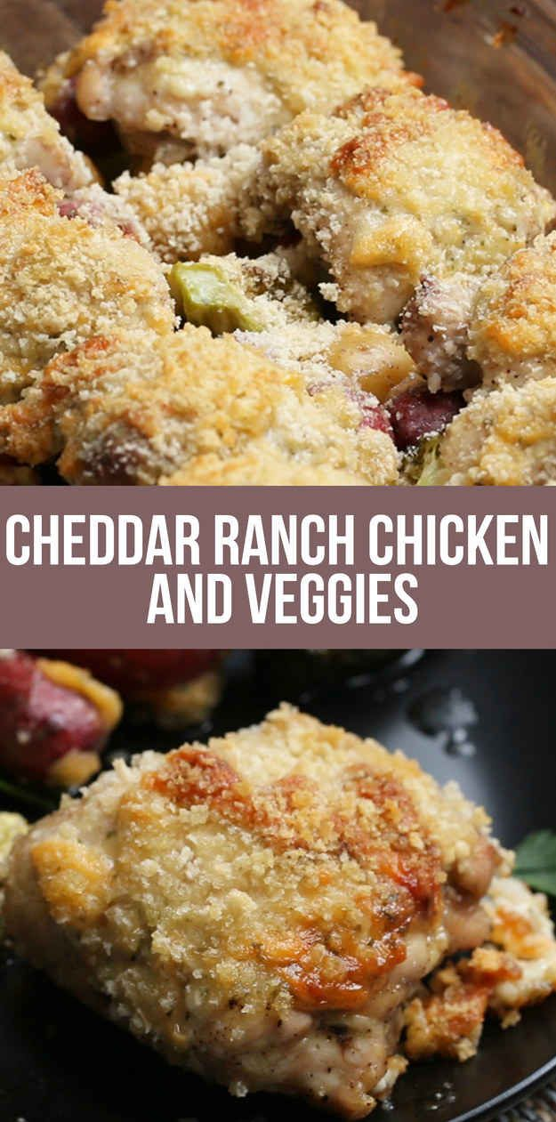 This Recipe For Cheddar Ranch Chicken And Veggies Is Just What Your Kitchen Ordered