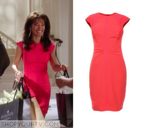 Devious Maids: Season 3 Episode 11 Genevieve's Pink Bodycon Dress