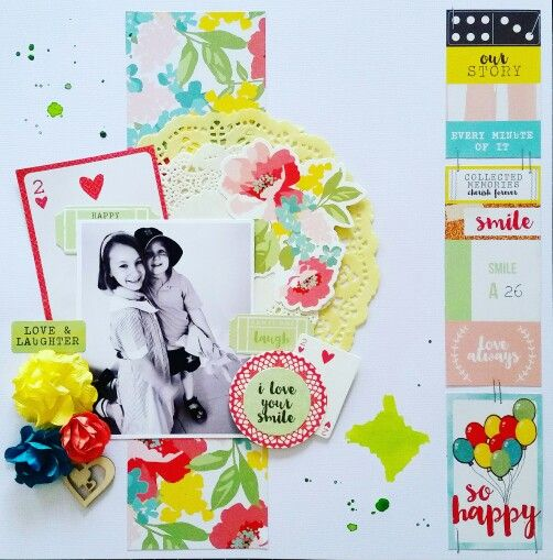 Kaisercraft : Finders Keepers Collection : So Happy layout by Amanda Baldwin