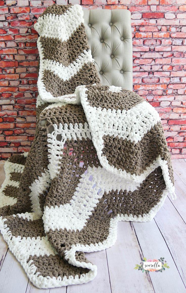 Farmhouse Ripple Throw Crochet For Beginners Blanket