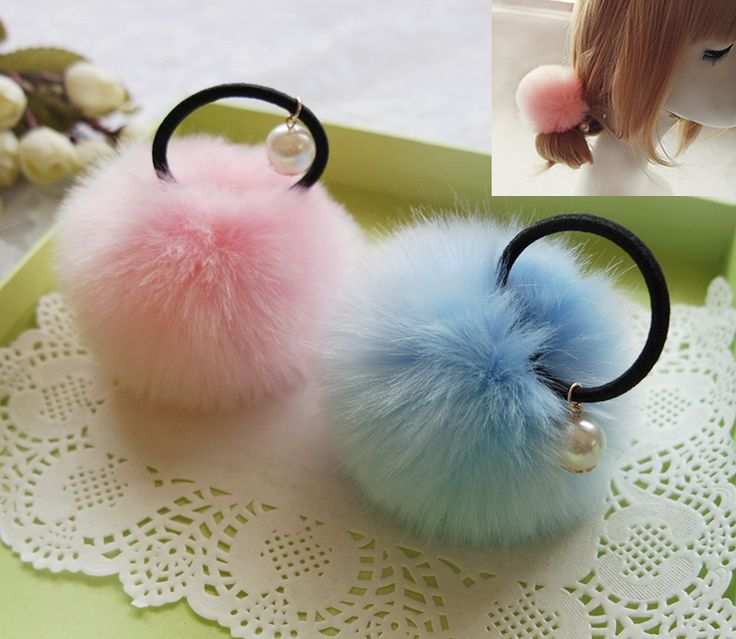 2017 New Fashion Cute Pom Horsetail Buckle Girl Hair Scrunchies Rubber Band Headwear Rope Coleteros Pelo Mujer Freeshipping