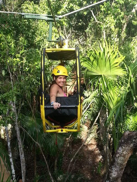 The newest adventure in Cancun and Riviera Maya, the best combination of a bicycle and a Zip-line.