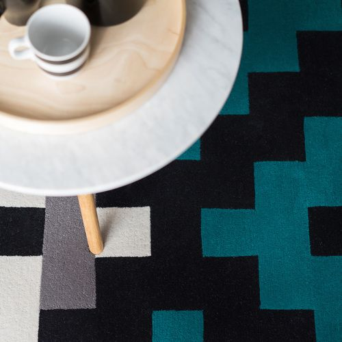 Dare to Rug <Intense> from the 'Romanian Moods' Collection.   Hand-tufted with the best New Zealand wool.   #daretorug #daretodesign